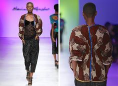 2015 Mercedes Benz Fashion Week Cape Town « Marianne Fassler African Design, Cape Town, Frocks, African Fashion, Tartan, Mercedes Benz, Kimono Top, Collection, Color