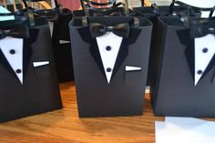 Fathers Day Crafts Discover Groomsmen gift bags/Proposal bag/Tuxedo gift bag Groomsmen gifts (various sizes) Groomsmen Gift Bags, Groomsmen Proposal, Boss Birthday, Baby Boy 1st Birthday Party, Birthday Gifts, Be My Groomsman, Groomsman Gifts, Party Favor Bags, Wedding Party Favors