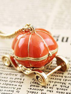 pumpkin carriage locket