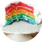 Rainbow Cake Recipe | Kitchen Corners ~ Love it!