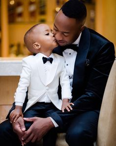 Daddy And Son, Father And Son, Fathers Love, Happy Fathers Day, Wedding Photos, Wedding Day, Father's Day Greeting Cards, African American Weddings, Black Bride