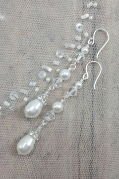 timeless and sophisticated crystal earrings