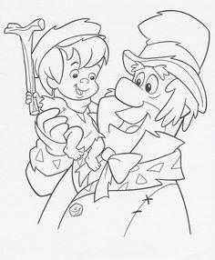 A Flintstones Christmas Carol Coloring Sheet 1995
