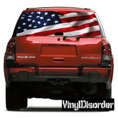 American Pride Rear Window View Through Graphic Og002