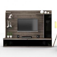 Home Luka 2,07m - Lukaliam Móveis -Estrutura em MDF/MDP -2 prateleiras em vidro -Suporta Tv LCD/LED de até 42'' -Puxadores em alúminio  R$665,90  ou 10x de R$66,59 ou R$599,31 no Boleto ou Bankline (10% desconto)