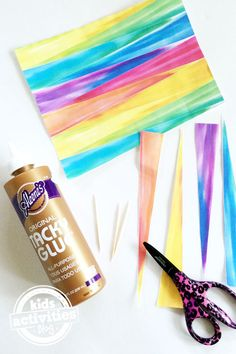 Make Rainbow Paper Beads - supplies you need                                                                                                                                                     More