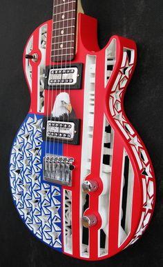Americana guitar #3dprinted