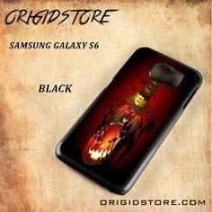 Skull Witch Creepy Halloween Snap On Samsung Galaxy S6 Case 3D Samsung Galaxy S6 Case Transparent Case