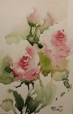 "Watercolor painting ""Red Tulips"" by Julia Kirilina Watercolor Rose, Watercolor Cards, Watercolour Painting, Watercolors, Watercolor Pictures, Gouache, Flower Art, Red Tulips, Pink Roses"