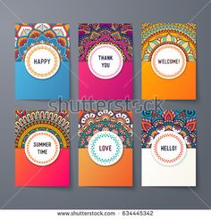 Business Cards. Vintage decorative elements. Ornamental floral business cards, oriental pattern, vector illustration. Islam, Arabic, Indian, turkish, pakistan, chinese, ottoman motifs.