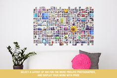 Instagram Collage Template for Photoshop & InDesign   Design Aglow
