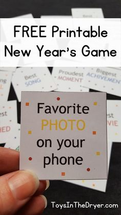 This free printable New Year's game is easy to bring, easy to play, and sure to be a ton of fun. Perfect for both adults and kids or a combo of both.
