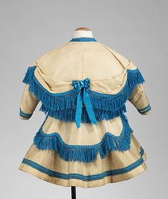 Ensemble Date: 1869 Culture: American Medium: wool, silk Dimensions: Length at CB (a–c): 25 in. (63.5 cm) Length at CB: 15 in. (38.1 cm)