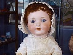 AM 985 Character Baby from BAYBERRY ANTIQUES on Doll Shops United http://www.dollshopsunited.com/stores/bayberrys/items/1288928/Armand-Marseille-985-Bisque-Head-Baby-Doll #dollshopsunited #antique #doll