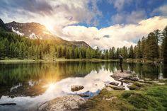 The Hidden lake. - Lake San Pellegrino, in Val di Fassa