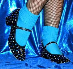 Rocky Horror Columbia tap shoes rhinestone sequin on Etsy, $79.99