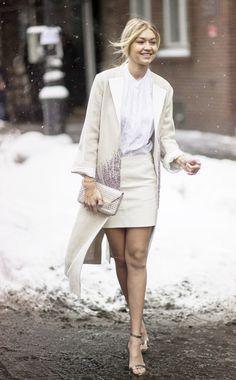 Fashion's It-Girl Gigi Hadid im Ton-in-Ton Look