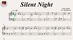 Silent Night (Stille Nacht, Heilige Nacht) - Franz Gruber, Piano https://youtu.be/8_9iLBFy508