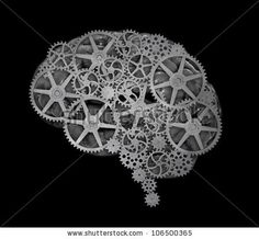 Human Brain Build Out Of Cogs And Gears Stock Photo 106500365 : Shutterstock