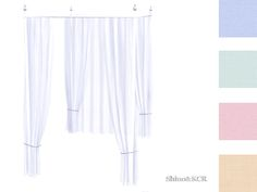 ShinoKCR's Curtains and Canopy's - Canopy Doublebed Bar White Silver