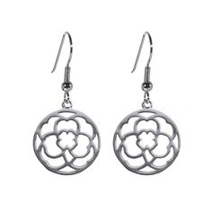 Hoochie Mama - Clover Medallion Earrings ($78) ❤ liked on Polyvore featuring jewelry, earrings, handcrafted jewelry, medallion jewelry, earring jewelry, clover jewelry and carved jewelry
