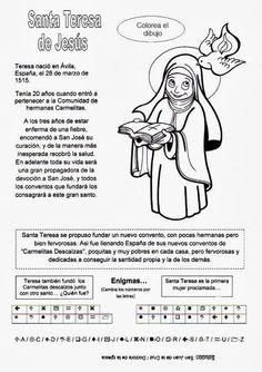 El Rincón de las Melli: Breve historia de Santa Teresa de Jesús con juego