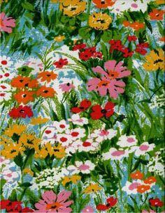 Cotton, preppy colors, vintage or retro floral - cute drapes Botanical Prints, Floral Prints, Art Prints, Swatch, Pattern Paper, Pattern Fabric, Textures Patterns, Floral Patterns, Pretty Patterns
