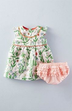 Mini Boden 'Pretty Tea' Cap Sleeve Dress (Baby Girls & Toddler Girls) available at #Nordstrom