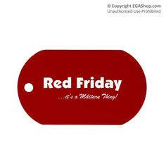 Dog Tag, Single: Red Friday It's a Military Thing