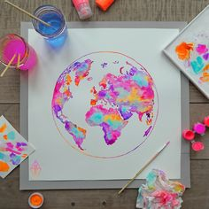 Cool Art Drawings, Art Drawings Sketches, Colorful Drawings, Illustration Inspiration, Instalation Art, Mini Canvas Art, Galaxy Painting, Doodle Art, Cute Art
