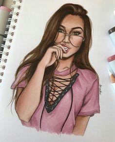 Fashion drawing by Natalia Madej