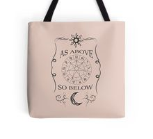 As Above So Below Design Tote Bag