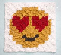 Heart Eyes is the first square is my Emoji C2C Crochet Graphgan! If you missed the sneak peek on Facebook and Instagram no worries, here are the details: I am creating a 9-square corner-to-corner (C2C) blanket just like my Christmas Character Afghan but smaller. Thesquares are 15×15 pixels (where as my Christmas characters were 25×25) …