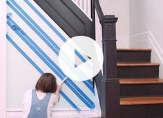 How to Paint a Striped Wall via @PureWow