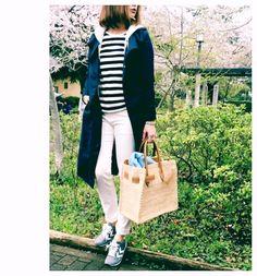 お知らせ&無印ボーダーにテロンチでお花見コーデ COCO LIFE ー シンプル可愛いプチプラコーデ日記