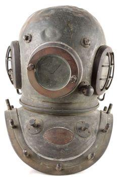 A Siebe Gorman Co. copper and brass twelve-bolt d