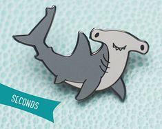 Hammerhead Shark Hard Enamel Lapel Pin (SECONDS SALE)