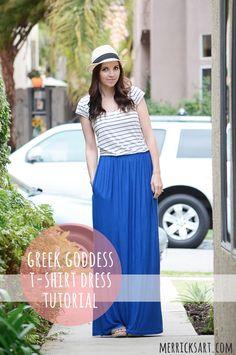 Greek Goddess Shirt Dress (Tutorial)