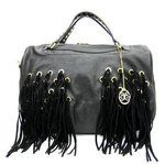 Black Woven Fashion Hobo Handbag