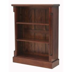 Our neat and compact La Roque low open mahogany bookcase is ideal for any living room or home office.