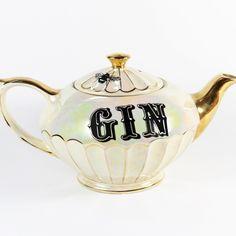 Yvonne Ellen Vintage Gold Gin Teapot