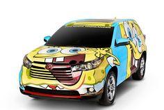 Oh Buoy! Toyota Spongebob custom Highlander