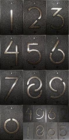 (on amazon too) Exhibition Font House Numbers (1931) by Frank Lloyd Wright
