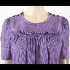 Marc By Marc Jocobs In excellent conditions..Purple  strip blouse shoulders bottoms size 6 Marc by Marc Jacobs Tops
