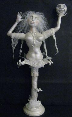 MOON RAISER DOLL. Moon Goddess Art Doll. Mixed by thestitchfiddler, $175.00