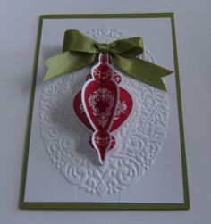 Day six stampin up party more holiday cards cards ornament stampin up
