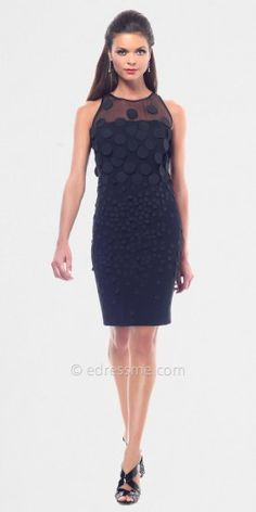 Black Illusion Crepe Day Dresses From NUE by Shani......Price - $340.00 - 6eLb2ERC
