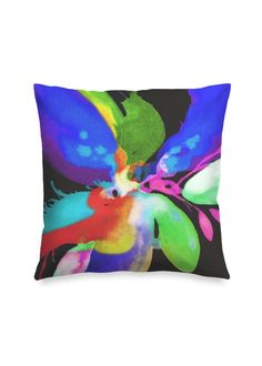 Blossoming 155-b - Square Pillow by Eliora BOUSQUET Red Pillows, Accent Pillows, Black Garden, Black Mountain, Sound & Vision, Decoration, Pillow Covers, Creations, Photos