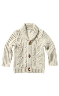 Boys Cosy Cable Cardi - A must have if I had a boy...