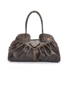 013cb4be44 Lione Large Satchel DK Brown Italian Leather Handbags